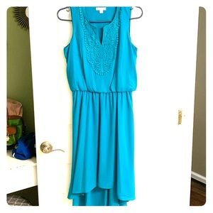 Lovely Blue Sleeveless Dress